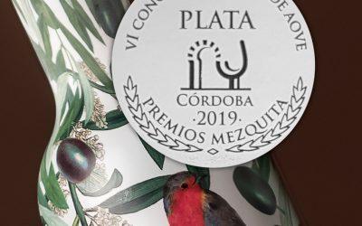 PREMIO MEZQUITA DE PLATA DE CÓRDOBA EN LA CATEGORÍA FRUTADO VERDE NO AMARGO ECOLÓGICO.